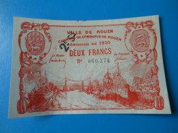 76 Rouen 2 Francs 1920 2ème Série Pirot 110/58 - Chambre De Commerce