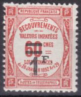 FRANCE TAXE 1926 YT N° 53 NEUF* COTE 23.00€ - Taxes