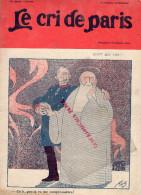 LE CRI DE PARIS -N°919-8-11-1914-GOTT MIT UNS-BELLE JARDINIERE--MAGASINS DUFAYEL- PARIS - RUE CLIGNANCOURT- - Books, Magazines, Comics