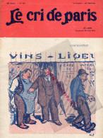 LE CRI DE PARIS -N°952- 20 JUIN 1915-TABAC CIGARETTES EGYPTE-BRIDGE-CHENET-MAGASINS DUFAYEL- PARIS - RUE CLIGNANCOURT- - Books, Magazines, Comics