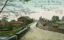 GB THROPTON / A Street / COLORED CARD - England