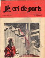 LE CRI DE PARIS -N° 1882-22-4-1933- JEAN ROUTIER- RENAULT PARIS- R. PONS -BAR SUR AUBE- PARFUMERIE PIVER- - Books, Magazines, Comics
