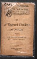 """Plaquette """"le 27e Régiment D'artillerie En Campagne (14-18) (F.0423) - Français"""