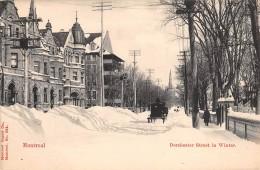 """05618  """"CANADA - QUEBEC - MONTREAL - DORCHESTER STREET IN WINTER"""" ANIMATA, CARROZZA. CART. POST. ORIG. NON SPEDITA - Montreal"""