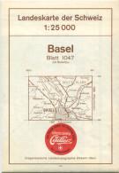 Landeskarte Der Schweiz 1:25'000 - Basel Blatt 1047 - Topographische Karte - Eidgenössische Landestopographie Wabern-Ber - Topographische Karten