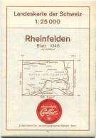 Landeskarte Der Schweiz 1:25'000 - Rheinfelden Blatt 1048 - Topographische Karte - Eidgenössische Landestopographie Wabe - Topographische Karten