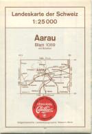 Landeskarte Der Schweiz 1:25'000 - Aarau Blatt 1089 - Topographische Karte - Eidgenössische Landestopographie Wabern-Ber - Topographische Karten