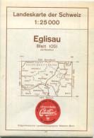 Landeskarte Der Schweiz 1:25'000 - Eglisau Blatt 1051 - Topographische Karte - Eidgenössische Landestopographie Wabern-B - Topographische Karten
