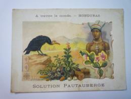"""A Travers Le MONDE  -  HONDURAS  :  Carte  PUB  """" Solution  PATAUBERGE """" - Chromos"""