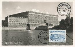 D23756 CARTE MAXIMUM CARD 1958 SWEDEN - ROYAL PALACE STOCKHOLM CP ORIGINAL - Architecture