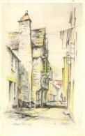 MISCELLANEOUS ART - LOOE - CHAPEL STREET - M LUSTLEIGH Art167 - England