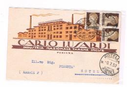 Pescara Industria Nazionale Targhe Incise Carlo Lusardi 1930 - Pescara
