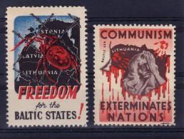 PROPAGANDA : COMMUNISM EXTERMINATES NATIONS / FREEDOM FOR BALTIC STATES : ESTONIA LATVIA LITHUANIA - CINDERELLA (u-337) - Erinnophilie