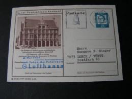 == Lufthansa Karte Nach Tokyo 1964 , Bildkarte Bocholt - BRD
