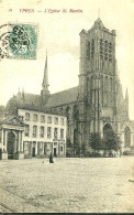 Ieper. Parnassus Hof Et église Saint Martin. - Ieper