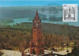 D23787 CARTE MAXIMUM CARD 1981 GERMANY - GRUNEWALDTURM CP ORIGINAL - Architecture