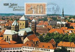 D23788 CARTE MAXIMUM CARD 1980 GERMANY - GENERAL VIEW OSNABRUCK CP ORIGINAL - Architecture