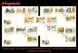 CUBA SPD-FDC. 1986-27 HISTORIA LATINOAMERICANA. V CENTENARIO DEL DESCUBRIMIENTO DE AMÉRICA. CULTURAS PRECOLOMBINAS - FDC