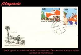 CUBA SPD-FDC. 1986-30 FECHAS HISTÓRICAS DE LA REVOLUCIÓN CUBANA - FDC