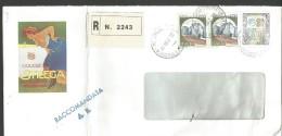 PV19/20---  PUBBLICITARIA, BUSTA RACCOMANDATACON PUBBLICITA' LIQUORE STREGA, 1999, - Alcolici