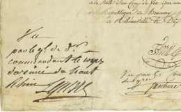 84e Demi-Brigade - RIBEAUVILLE 1798 - Marechal LEFEBVRE Et General QUETARD DE LA PORTE - Armee - Gien Hemmery - Documenti Storici