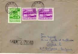 Romania Letter 1969.motive - Transport,Train,Bus, - 1948-.... Républiques