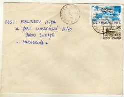 Romania Letter 1995 Via Macedonia.motive - Transport,Plane.Paris France - Lettres & Documents