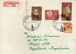 Denmark R - Letter 1972 Via Macedonia.nice Stamps - Mix - Denmark