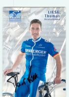Thomas LIESE , Autographe Manuscrit, Dédicace .  2 Scans. Cyclisme. Nürnberger - Cyclisme