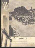 PV37/38---  QUADERNO, FASCISTA,  LA RIVISTA IMPERIALE DEL 9  XV  IN ROMA,  CAVALLERIA INDIGENA, - Vecchi Documenti