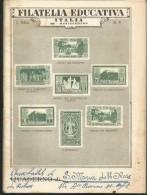 PV39/40---  QUADERNO,  FILATELIA EDUCATIVA,,  1955, - Vecchi Documenti