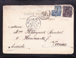 EXTRA11-10 OPEN LETTER SEND FROM FRANCE TO AUSTRIA WITH THE CZAR LABEL STAMP. RARE.