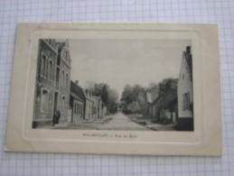 CARTE POSTALE Ancienne De WALINCOURT Nord 59 La Rue Du Bois En 190? Avec 2 Personnages - Altri Comuni