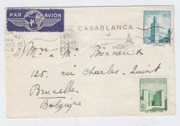 Morocco/Belgium AIRMAIL COVER 1958 - Marokko (1956-...)