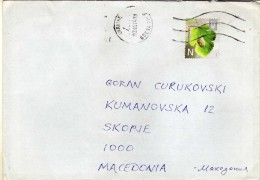 Ukraine Letter Via Macedonia 2014 - Ukraine