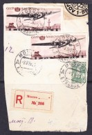 EXTRA11-17 PART OF COVER OF R-LETTER. COMMEMORATIVE STAMPS.