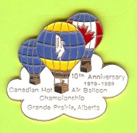 Pin's 10th Anniversary 1979-1989Canadian Hot Air Balloon Championship (Montgolfière)  - 10Z08 - Luchtballons