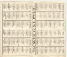 CALENDARIETTO SALESIANO 1954 - Calendriers