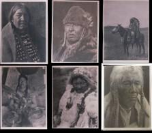 Photos D´Indiens D´Amérique De Edward Sheriff Curtis, Format Env. 8x11 Cadre Blanc Irrégulier (38) Retirage? - Ethnics