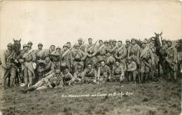 CARTE PHOTO MANOEUVRES AU CAMP DE BITCHE 1930 - Manovre