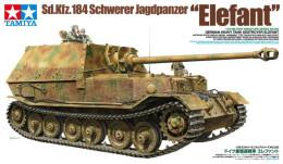 "Sd.Kfz.184 Schwerer Jagdpanzer "" Elefant ""  1/35 ( Tamiya ) - Military Vehicles"