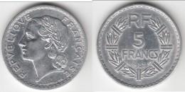 VARIANTE 9 FERME **** 5 FRANCS 1947 B - 9 FERME - LAVRILLIER - ALUMINIUM **** EN ACHAT IMMEDIAT !!! - J. 5 Francs