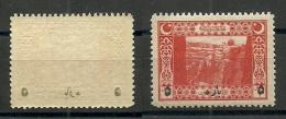 Turkey; 1917 Surcharged Postage Stamp, Abklatsch Surcharge ERROR - 1858-1921 Empire Ottoman