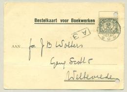 Nederlands Indië - 1933 - 2 Cent Cijfer Grijs Als Enkelfrankering Op Bestelkaart Voor Boekwerken - Nederlands-Indië