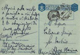 FRANCHIGIA LUOGOTENENZA C.I.L. POSTA MILITARE 104 1945 CERVIA X ARDORE - 1944-46 Lieutenance & Humbert II