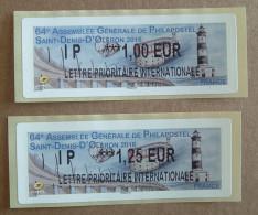 Lis02 Vignettes Lisa :  IP 1.00,   IP 1.25 64e AG Philapostel Saint-Denis-d'Oléron 2016 (autocollantes / Autoadhésives) - 2010-... Viñetas De Franqueo Illustradas