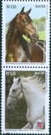 BRAZIL 2016  - Diplomatic Relations : Brazil And Slovenia – Horses - Vertical Pair – MNH  - 2v  MINT - Nuovi