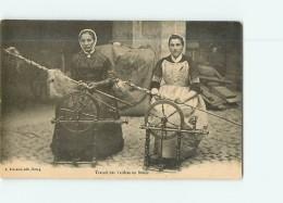 FILEUSES Au Rouet - Travail Des Veillées En Bresse -  2 Scans - Artesanal