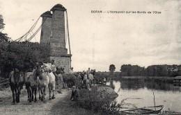 L ABREUVOIR SUR LES BORDS DE L OISE-BE - Boran-sur-Oise