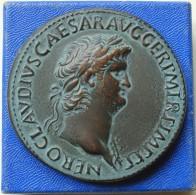 France - Médaille De Neron Et Decursio D'après Une Monnaie Romaine En Cuivre Splendide 500 Exemplaires - Monarchia / Nobiltà